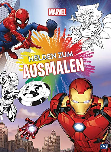 Marvel Helden zum Ausmalen: Ausmalbuch mit über 70 s/w-Vorlagen (Die Marvel-Activity-Reihe, Band 2)