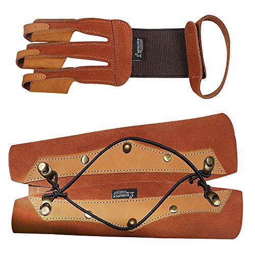 Explopur Archery Arm Guard mit 3 Finger Tab Handschuh Archery Protective Set Archery Accessories