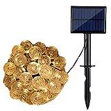 AGM Luces de Cadena Solares, Bolas de Cristal de 30/50/60 LED, 8 Modos de Iluminación, IP65 a Prueba de Agua con Panel Solar de 2V 120mAh, para Decoración del Hogar | Exterior