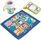 Fisher-Price Work from Home Gift Set, 3 take-Along Infant Toys and teether for Babies Ages 3 Months and up