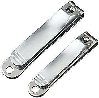 DragonFruitee Premium Nail Clippers for Fingernail and Toenail, Carbon Stainless Steel Nail Cutter with Durable and Long-Lasting Razor Sharp Blade - Silver Matte Finish
