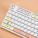 Tokey Keys Set XDA Profile Custom Keycaps PBT Dye Sublimation ANSI Layout Keycaps Set for Gateron Kailh Cherry MX Switches Mechanical Gaming Keyboards (Shiba Inu with Japanese Characters)