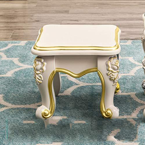 PLL Europese kleine bankje salontafel kruk start kinderen kleine kruk woonkamer zitting ivoor wit hard oppervlak schoenen bank