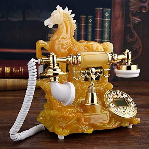 Teléfono Giratorio Retro Botón de dial Giratorio Teléfono de Escritorio Escritorio con Cable de Estilo Antiguo Teléfono Giratorio Retro Teléfono de Escritorio Fijo de Estilo Antiguo clásico