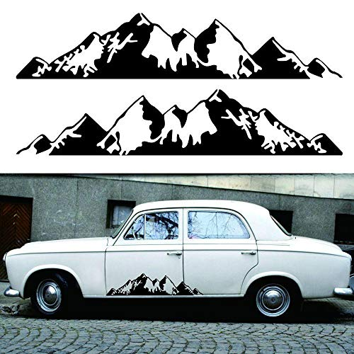 Mountain Decal Car Vinyl Sticker Decal Bumper Sticker for Auto Cars Trucks Windshield for Car AUTO Jeep Truck Rear Home and More 1Pair(30x6.6inch)