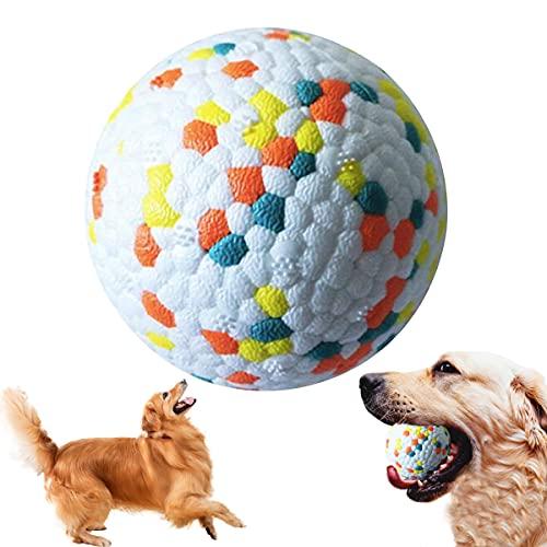 Pelota de Juguete para Perros,Pelota Perro Indestructible,Pelota de Caucho Natural para Perros,Bola Interactiva Perros para Perros Pequeños Medianos y Perros Grandes (Rojo)
