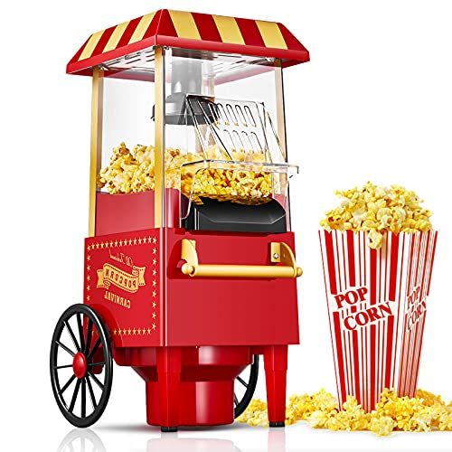 Machine à Pop Corn Rétro, 1200W ...