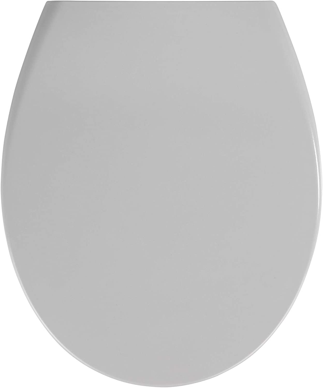 Wenko Toilet seat Samos in Light Grey, Duroplast 37.5 x 44.5 x 10 cm