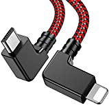 Wondrux Compatible 1FT 90 Degree Micro USB to iOS OTG Data Cable Right Angle Phone Tablet Connector Cord DJI Spark, Mavic Pro, Platinum, Air, 2 Pro, Zoom Remote Controller Accessories (1Pack)