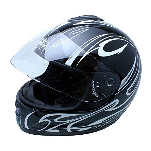 Roadstar Integral-Helm Revolution Swing, Schwarz, Größe 53/54