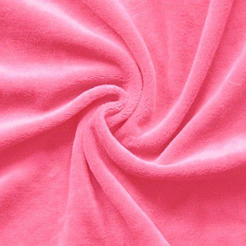 STOFFKONTOR Nicki Baumwollstoff Stoff - kuschelweicher Wohlfühlstoff, Kinderstoff - Meterware, hot-pink - zum Nähen von Kinderkleidung, Hausanzügen, Kissen