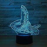 Turtle Muster Lampe Touch Tischlampe Farbe kann das Nachtlicht als Dekoration der Schlafzimmer Atmosphäre Lampe ändern