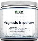 Magnesio In Polvere - Magnesio Carbonato E Acido Citrico In Polvere 450g, 90 Porzioni, Scorta Per 3 Mesi - Altamente Solubile E Assorbibile - Per Vegani E Vegetariani - Ottimo Rapporto Qualità/Prezzo