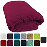Lanudo XXL Sauna-Handtuch Pure Line Webbördüre 100% Frottier Baumwolle 80 x 200 cm, Farbe Pink