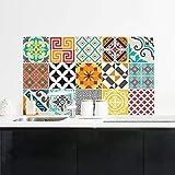 Ambiance-Live Col-Ros-tilesBrightMix_10x10cm Pegatinas de Pared, Vinilo, Multicolores, 10x10