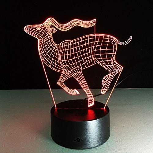 Running Deer 3D Tischlampe Kinder Spielzeug Geschenk LED Kreativer kleiner Schreibtisch Visuelles Nachtlicht USB Farbwechsellicht Als Geschenk von n