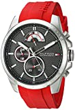 Tommy Hilfiger Men's Cool Sport Stainless Steel Quartz Watch with Silicone Strap, Red
