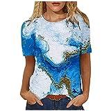 AOGOTO T-Shirts DéContractéS à Manches Courtes Pour Dames à Col Rond Et à Manches Courtes T-Shirts éLéGants Sans Manches T-Shirts Pour Femmes Tops Pas Chers Pour Femmes