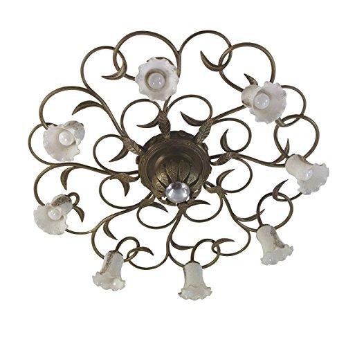 Tuinruimte plafondlamp smeedijzeren jugendstil - Juncus, wit