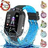 Montre Intelligente Smartwatch, Montre téléphone pour Enfants pour Fille Garçon LBS Tracker Jeux/SOS/Alarm,Compatible iOS...