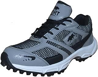 Port Men's Grey Player Pro Rubber Cricket Shoes