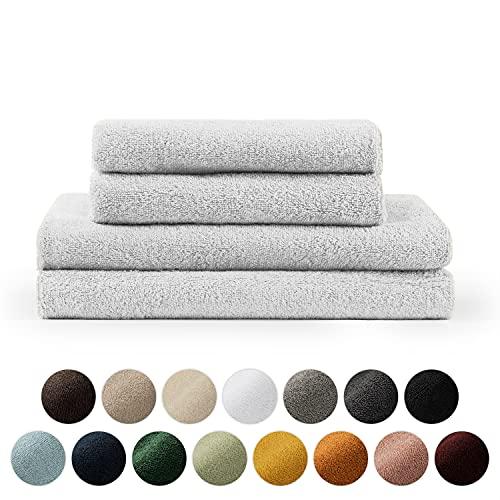 Blumtal Set de 2 Toallas de Baño (70x140cm) + 2 Toallas de Manos (50x100cm) - Toallas Suaves y Absorebentes, 100% algodón, Certificado Oeko-Tex 100, Blanco