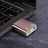 Liukouu Scheda Audio USB, Scheda Audio USB 2.0 ad Alta velocità, Adattatore USB, per Microfono PC Notebook per Cuffie(Rose Gold)