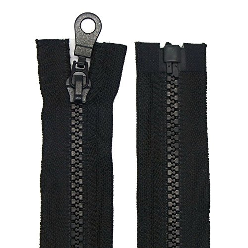 Reißverschluss Kunststoff 5mm grob teilbar Schwarz 120 cm