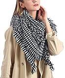 JFAN Bufanda de Pata de Gallo Suave y Cómoda Bufanda de Cachemira de Imitación Otoño Invierno Clásico Pashmina Estola A Cuadros Colorido de Mujer 140 cm * 140 cm