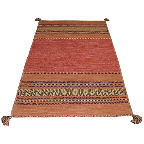 Oriental Alfombra Salón 100% algodón Antique Kilim Orange