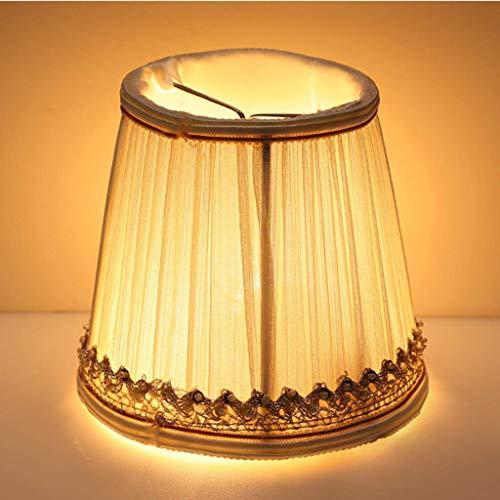 ADSE Europäischer Lampenschirm, Leinen Kerzenlampenschirm Kit Drop Light Lampenschirm Lichtschirm für Kerzenleuchter, Deckenpendelleuchte, Wandlampe