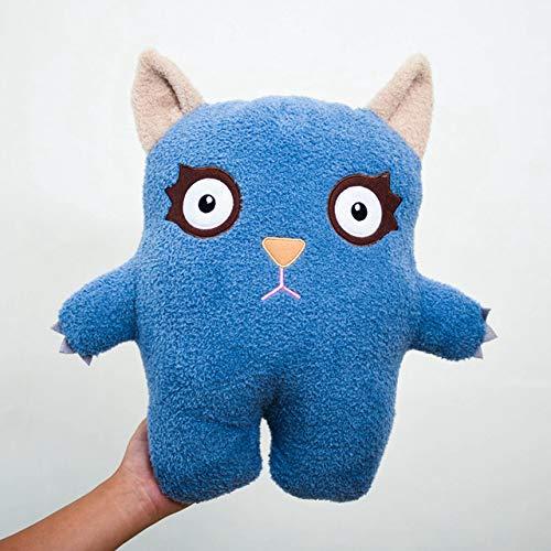 Knuffels Poppen Zachte Pluche Vleermuis Speelgoed Duiveltje Voor Baby Kalm Slaap Kussen Speelgoed Kinderen Bed Room Decor 45Cm Blauw
