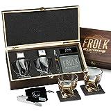 Whiskey Stones & Glasses Gift Set for Men &...