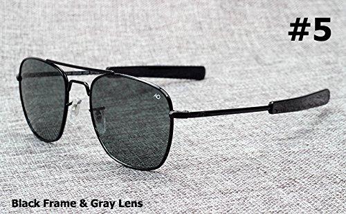Aprigy Fashion Army Military AO Pilot - Gafas de sol de cristal óptico americano de 54 mm, 5