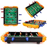 Jadpes Tischfußball-Tischspiele und Zubehör, tragbares Spiel Tischfußballbälle Mini-Tischfußball-Tisch Tischfußball-Zubehör-Kit für Spielzimmer Spielhallen Bars Familienabend