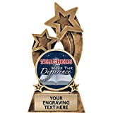 Crown Awards Teacher Trophy, 6' Glory Resin Teachers Make The Difference Trophies with Free Custom Engraving Prime