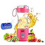 Portable Blender 2, OBERLY Upgraded Personal Juicer Cup for Shakes and Smoothies - Six Blades in 3D,...