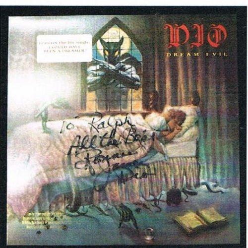 RONNIE JAMES DIO Dream Evil SIGNED Promo LP Album JSA LOA
