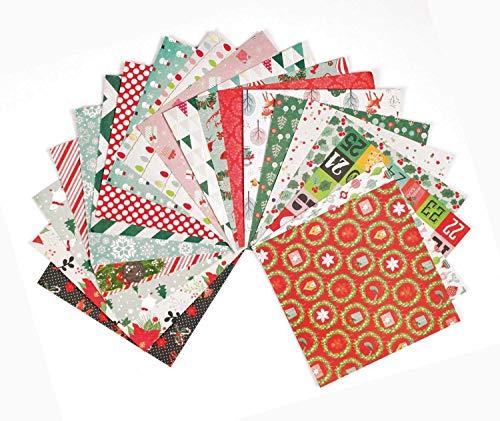 Set de 20 feuilles de papier scrapbooking 15x15 cm Noël Tendance
