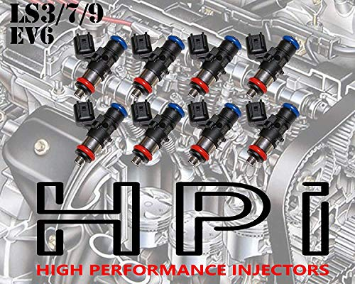 8 HIGH IMPEDANCE FUEL INJECTORS. 100 YEAR WARRANTY! LSA LS7 (LS3) FITS GM CHEVY FORD CAMARO CORVETTE HIGH IMPEDANCE 12 OHM (42LB 440CC)