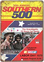 サザン500 NASCARダーリントンレースウェイヴィンテージティンサイン装飾ヴィンテージウォールメタルプラークレトロ鉄絵画カフェバー映画ギフト結婚式誕生日警告