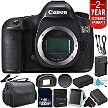 Canon EOS 5DS Digital SLR Camera 0581C002 (Body Only)- Bundle with 32GB Memory Card + Spare Battery + More (International Version) with 2 Year Seller Warranty