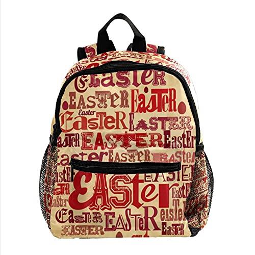 ColorMu Mini sac à dos pour ordinateur portable Sac pour ordinateur portable pour femme Affiche de Pâques pour le travail, l'école, l'extérieur