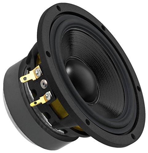 MONACOR MSH-115HQ High-Quality Hi-Fi-Mitteltöner, Speaker für die Mittelton-Wiedergabe, Einbau-Modul für Boxen-Gehäuse, in Schwarz