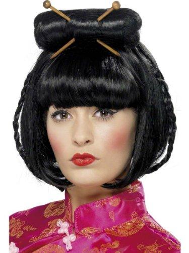 Smiffys Karneval Zubehör Perücke Asiatin Geisha Chinesin Japanerin Kostüm