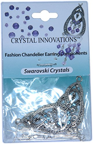 Crystal Innovations Fashion Sapphire Blue Chandelier Earring Components