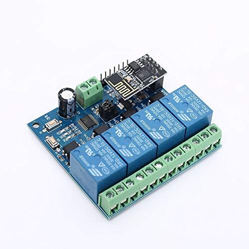 HEQIE-YONGP Módulo de relevo- Módulo de relé WI-FI 12V de 4 Canales a Distancia Interruptor de Control for el hogar Inteligente IOT Controlador App Transmisión Teléfono 100m