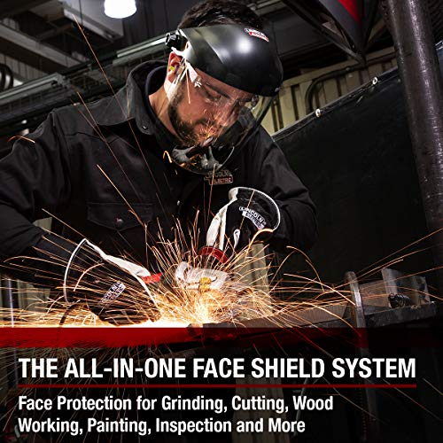 Lincoln Electric OMNIShield Professional Face Shield | Anti-Fog & Anti-Scratch Coated Clear Lens | Premium Headgear | K3752-1