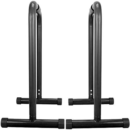 ディップススタンド 懸垂運動 懸垂マシン ぶら下がり健康器 フロントレバー 斜め懸垂 プルアップマシン 腕立て伏せ 筋トレ 全身 トレーニング イコライザー 2個 100kg (Color : Black)