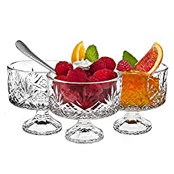 footed glass dessert dishes